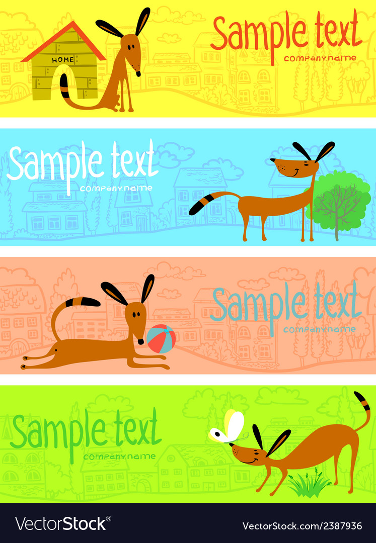 Cute dogs vector   Price: 1 Credit (USD $1)