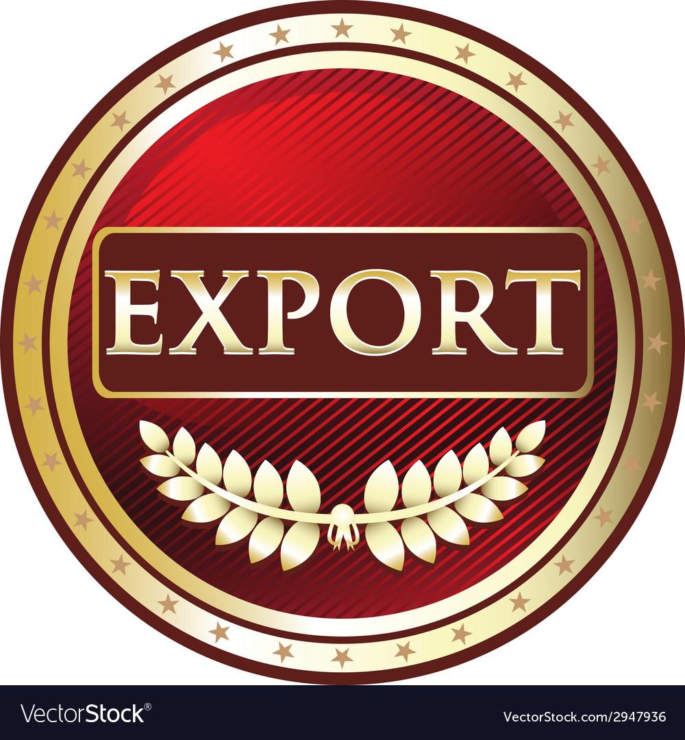 Export red label vector | Price: 1 Credit (USD $1)