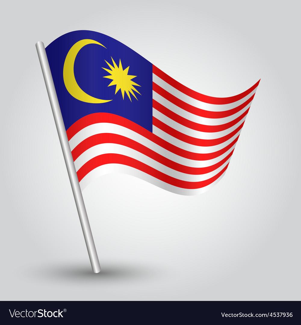 Flag malaysia vector | Price: 1 Credit (USD $1)