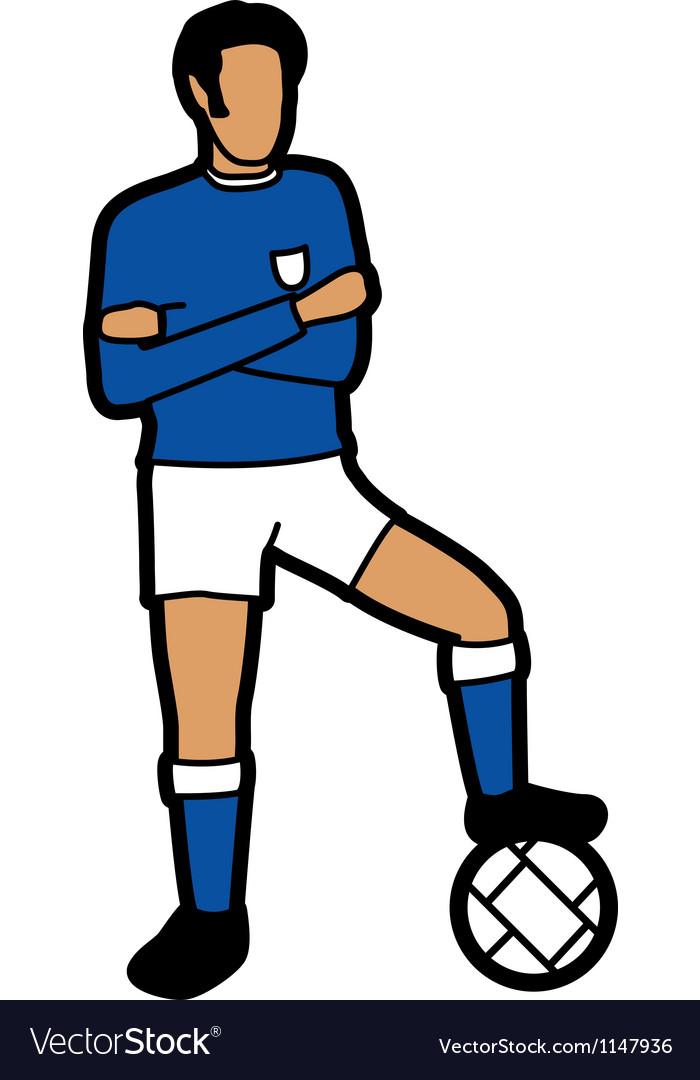 Footballer vector | Price: 1 Credit (USD $1)