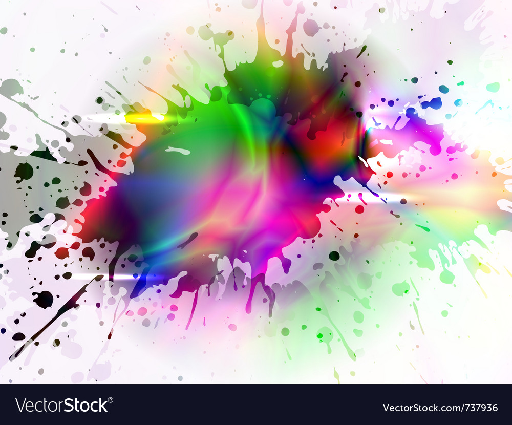 Glowing splash vector | Price: 1 Credit (USD $1)