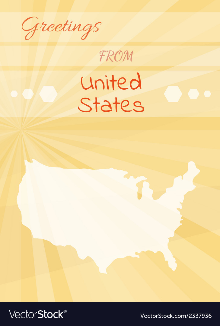Greetings from united states vector | Price: 1 Credit (USD $1)