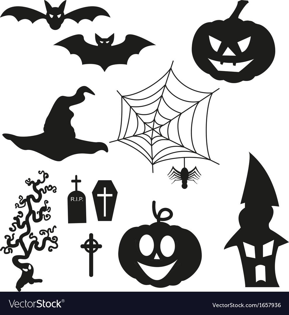 Halloween silhouetten - set vector | Price: 1 Credit (USD $1)