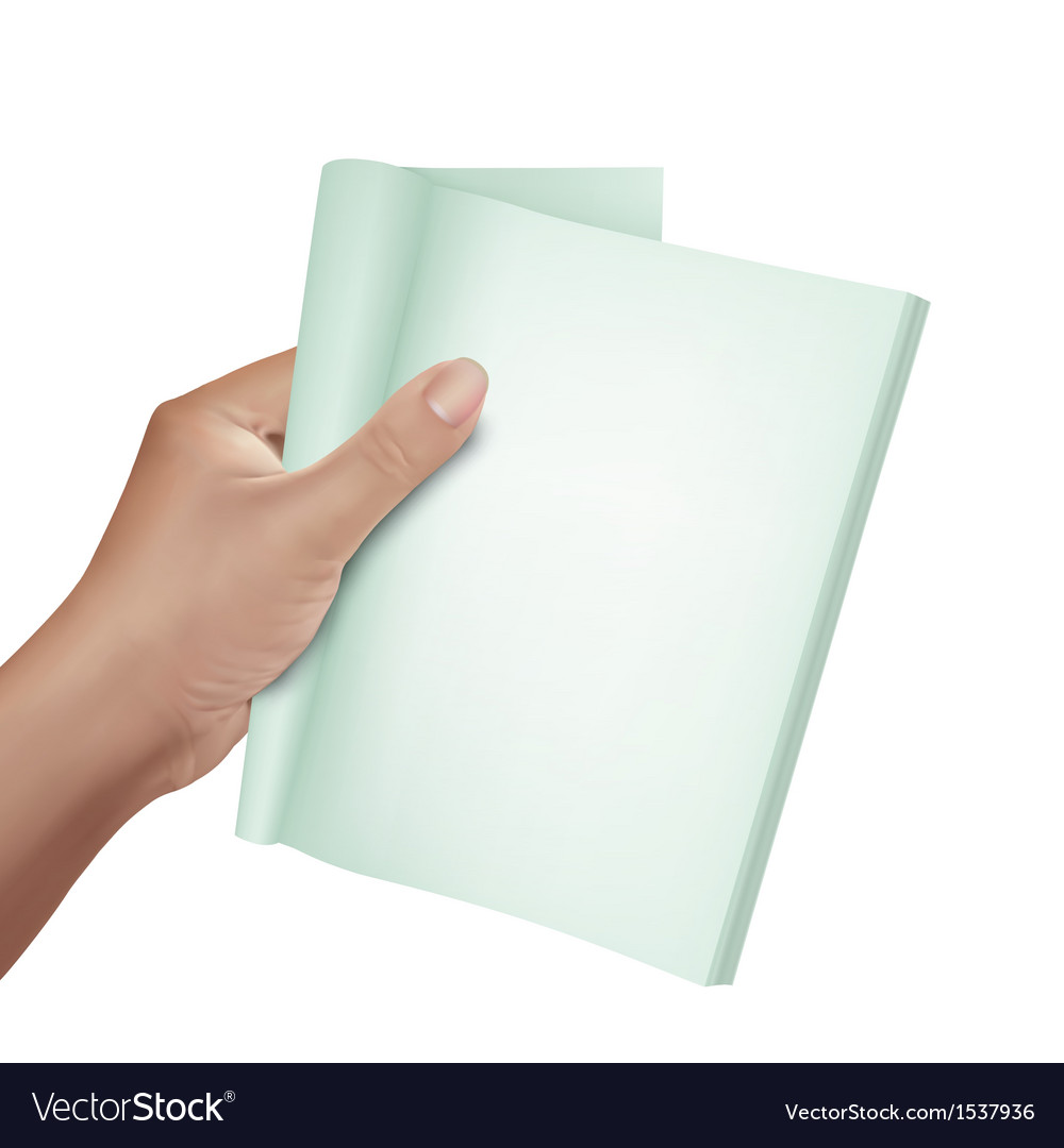 Hand holding note book vector | Price: 1 Credit (USD $1)