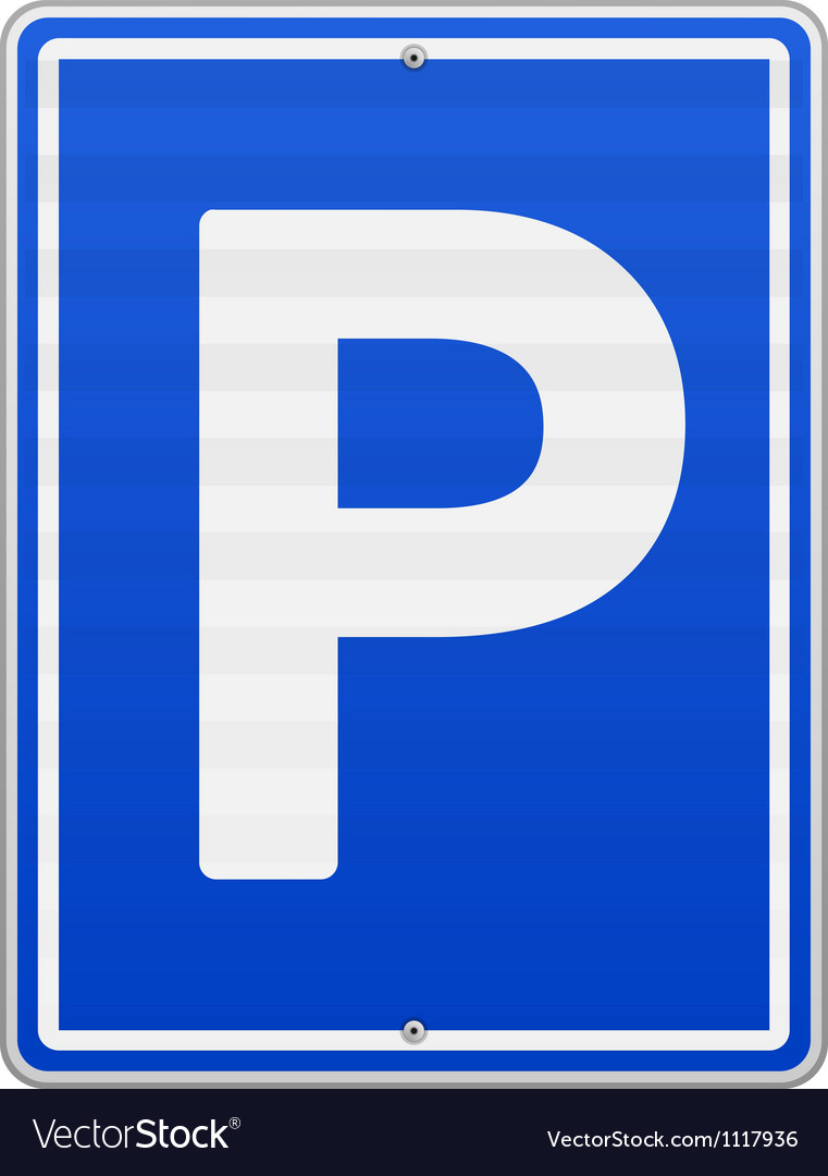 Isolated parking sign vector | Price: 1 Credit (USD $1)