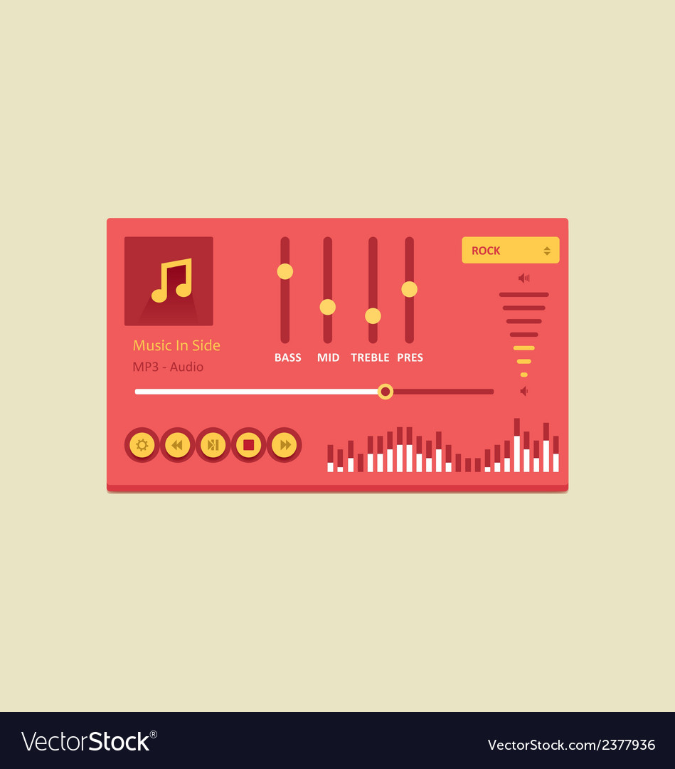 Music player 20 vector | Price: 1 Credit (USD $1)