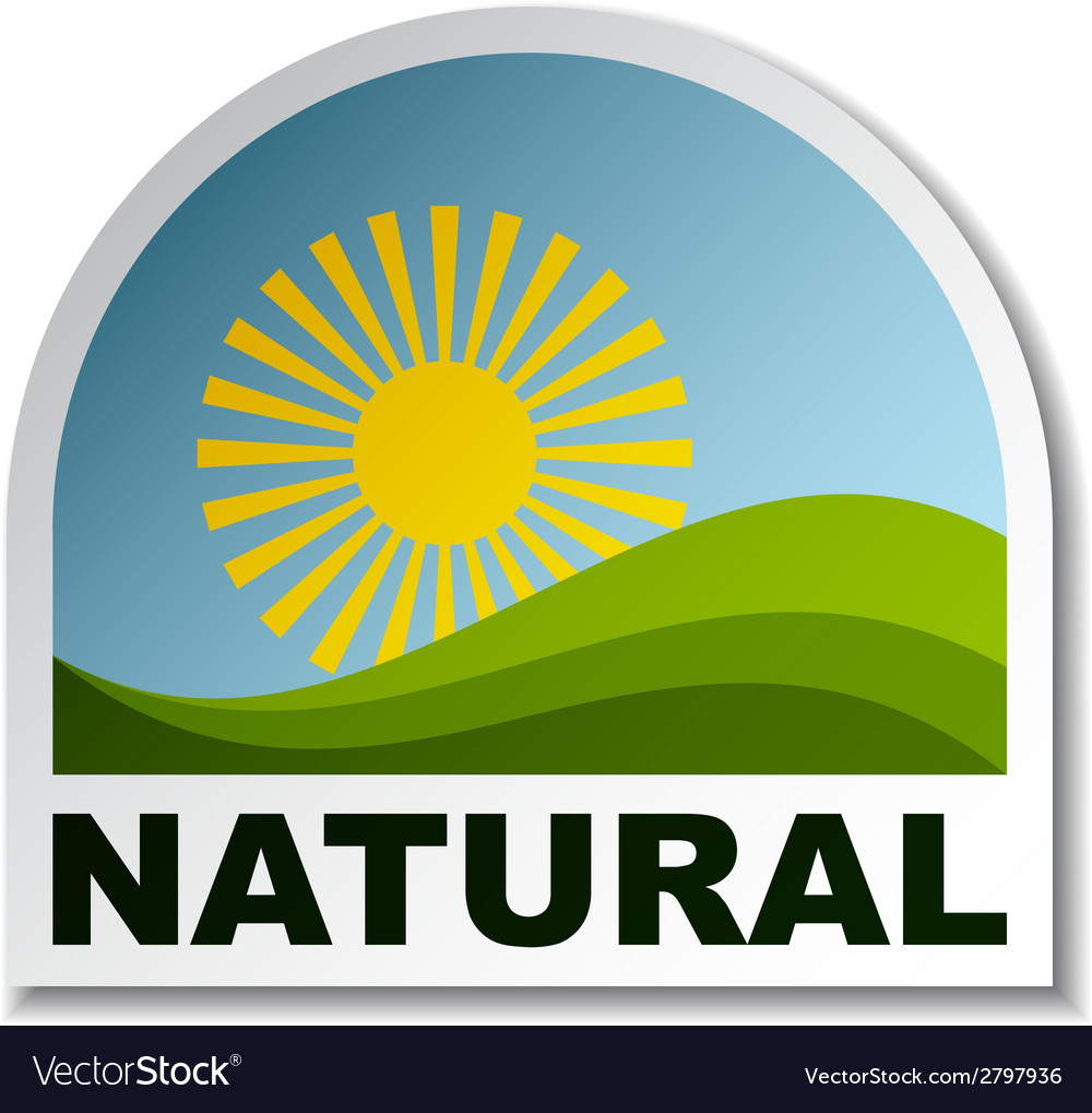 Natural landscape sticker vector   Price: 1 Credit (USD $1)