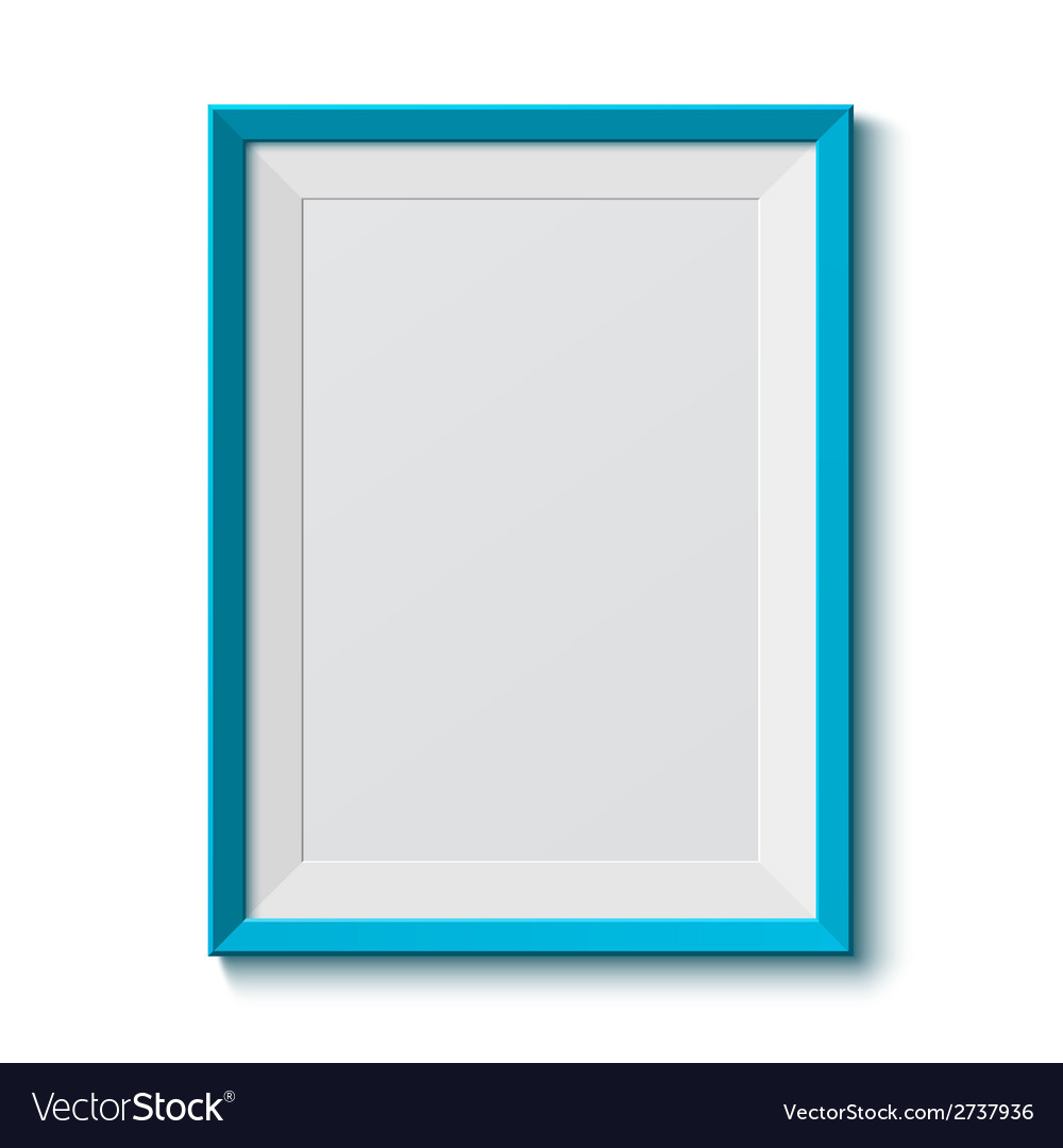 Realistic blue frame vector | Price: 1 Credit (USD $1)