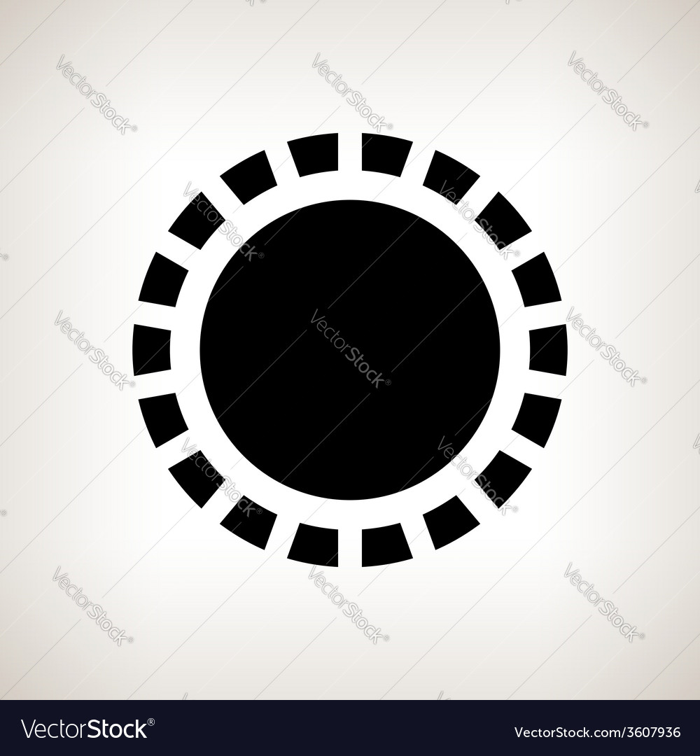 Silhouette sun on a light background vector | Price: 1 Credit (USD $1)