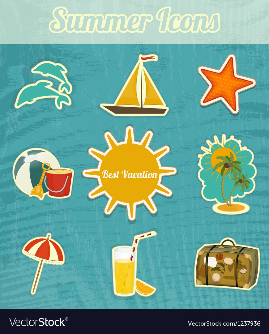 Summer icons vector | Price: 3 Credit (USD $3)
