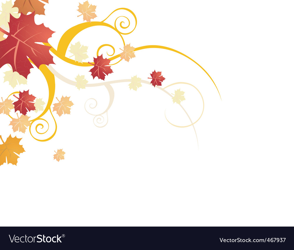 Autumn floral vector | Price: 1 Credit (USD $1)