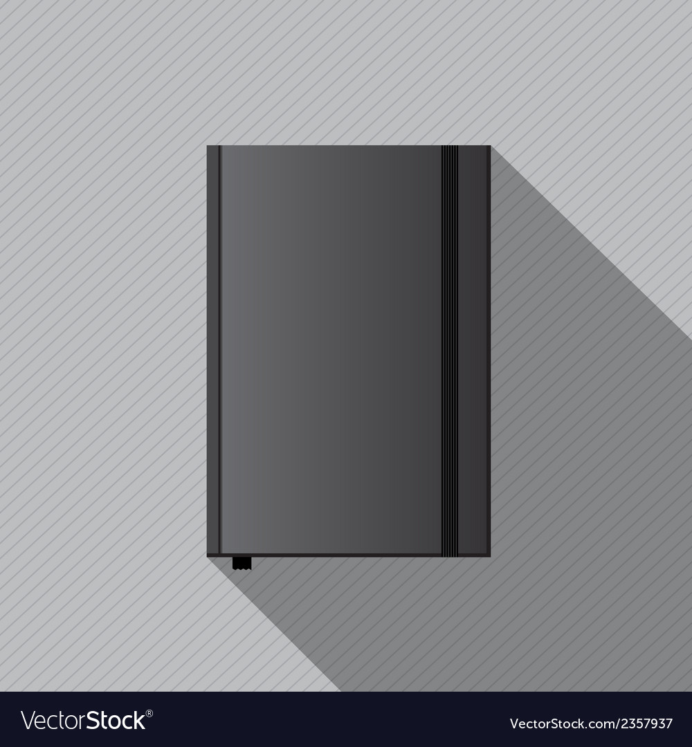 Blank notebook cover template vector | Price: 1 Credit (USD $1)