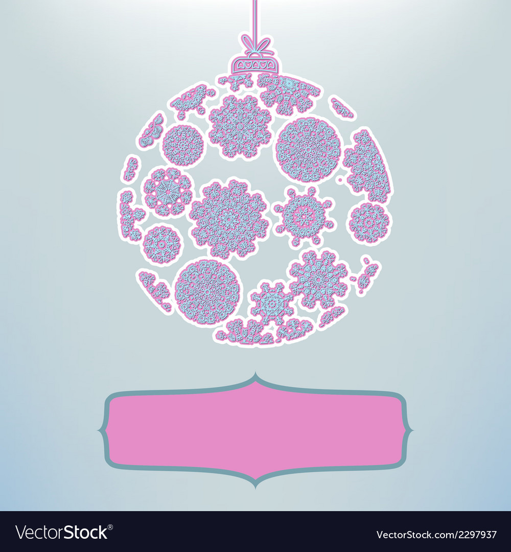 Christmas ball in retro style  eps8 vector | Price: 1 Credit (USD $1)