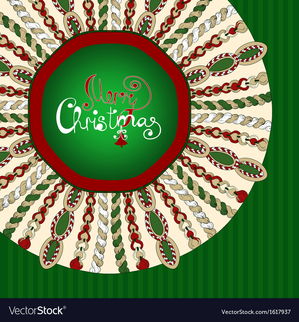 Christmas stylized knitted background vector | Price: 1 Credit (USD $1)