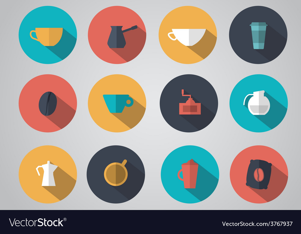 Design coffee icons vector | Price: 1 Credit (USD $1)