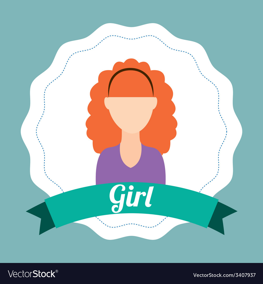 Girl design vector | Price: 1 Credit (USD $1)