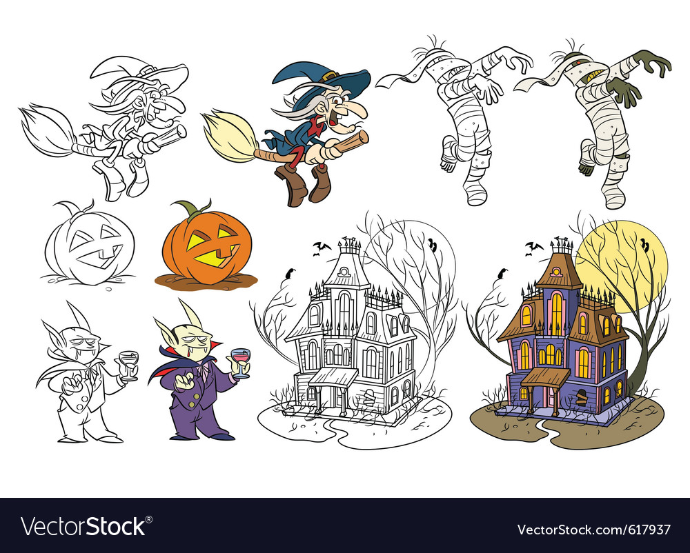 Halloween set vector | Price: 3 Credit (USD $3)