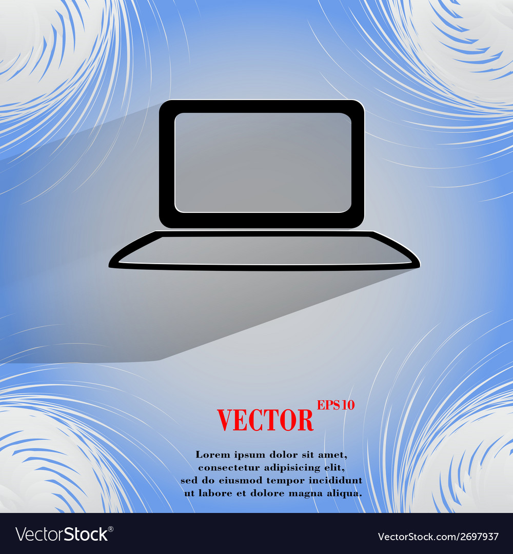 Notebook flat modern web button on a flat vector | Price: 1 Credit (USD $1)