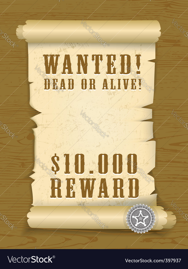 Poster wanted vector | Price: 3 Credit (USD $3)