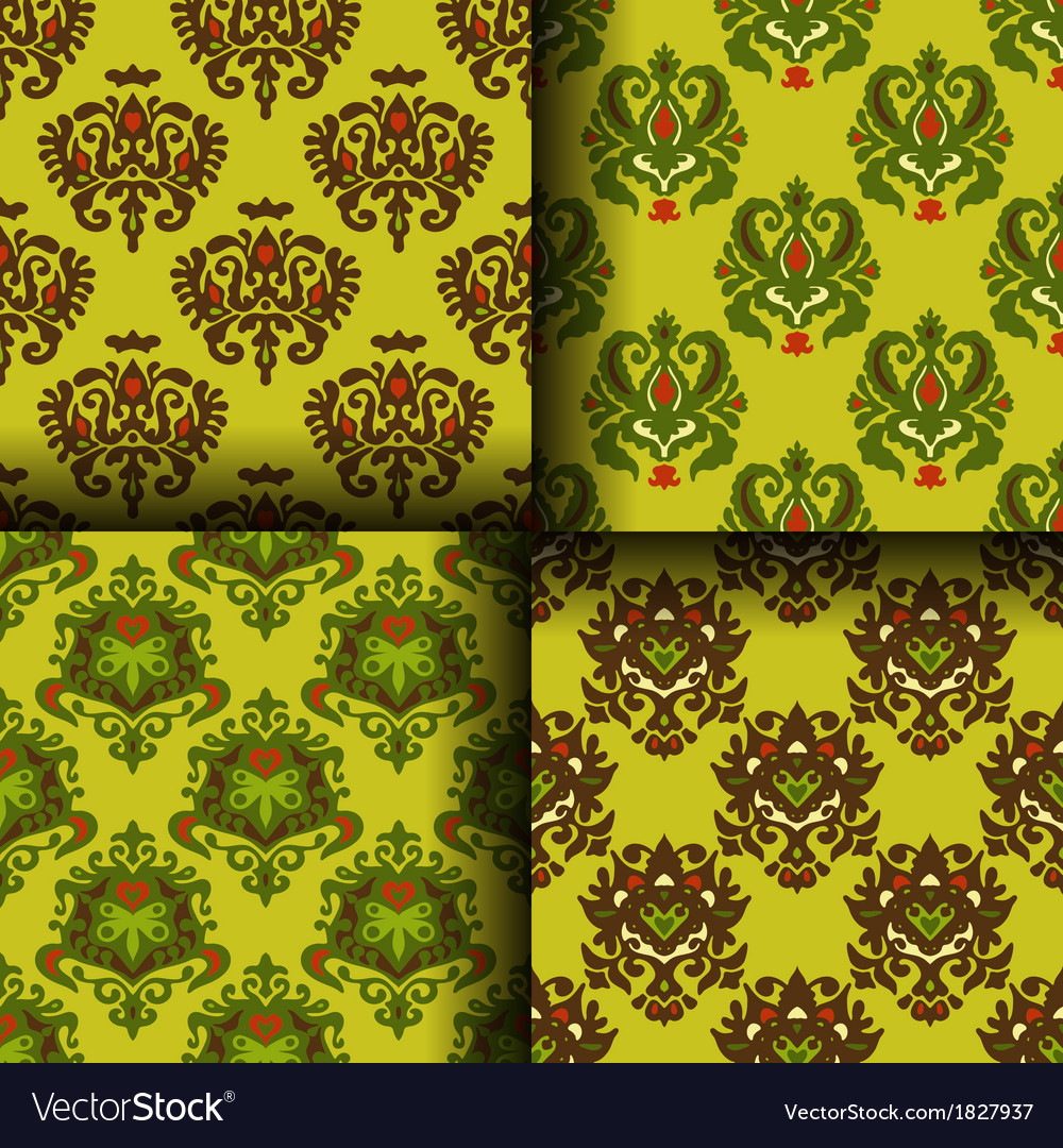 Set of seamless for wrap and wallpaper vector | Price: 1 Credit (USD $1)