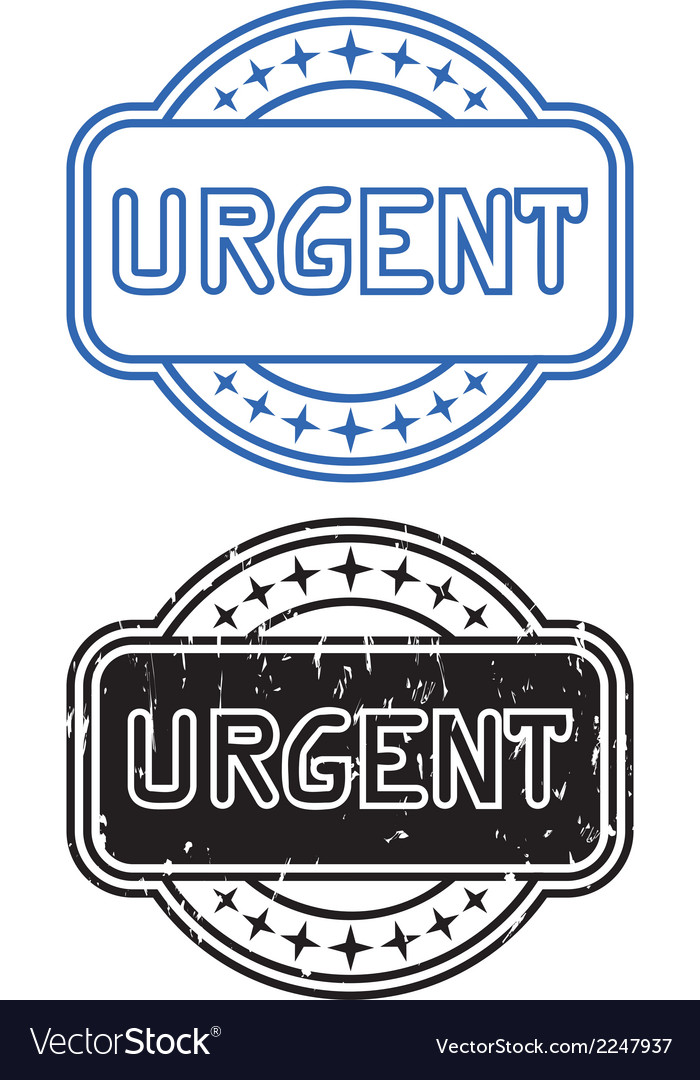 Stamp urgent vector | Price: 1 Credit (USD $1)