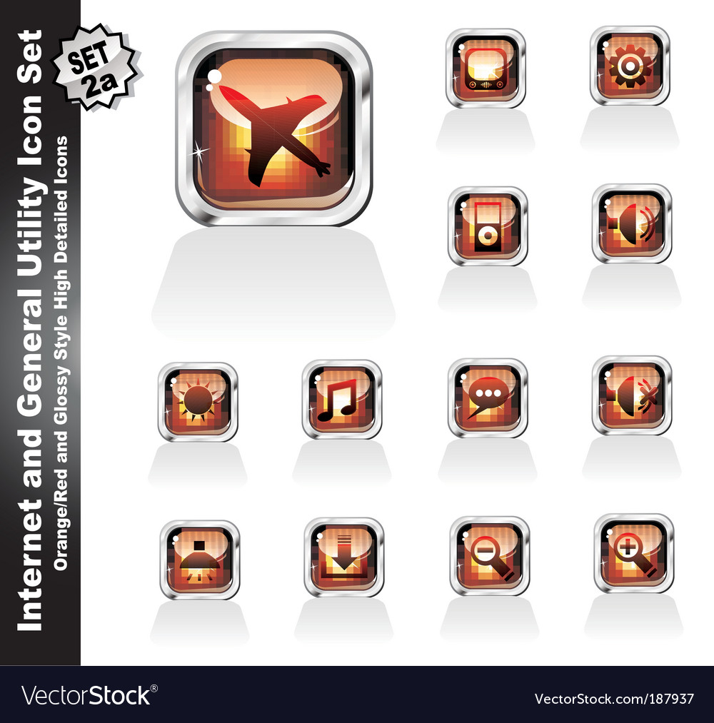 Web and internet utility icons vector