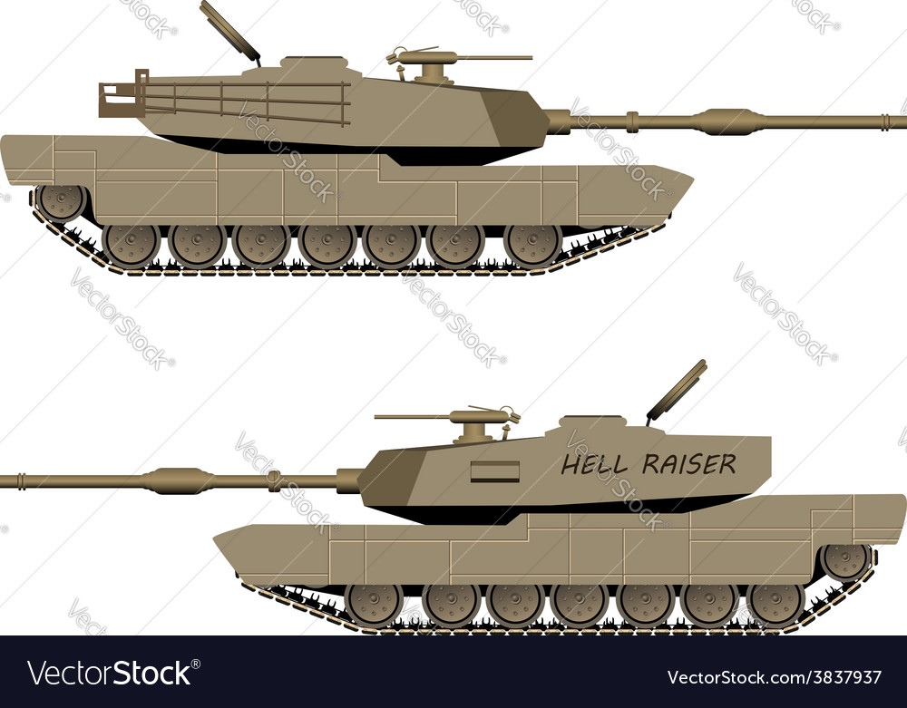 World war tank vector