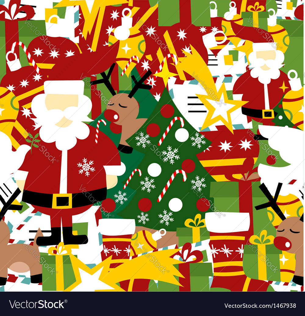 Christmas seamless pattern background vector | Price: 1 Credit (USD $1)