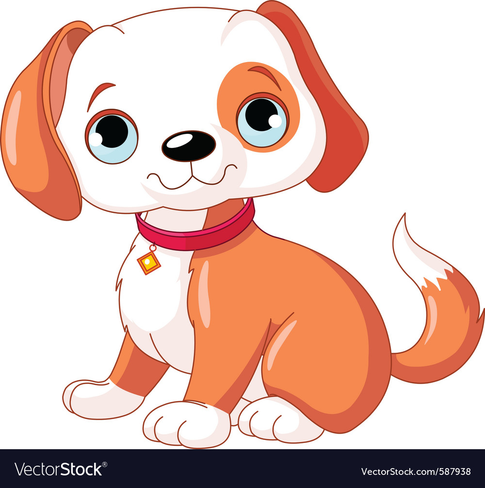 Cute puppy vector | Price: 1 Credit (USD $1)