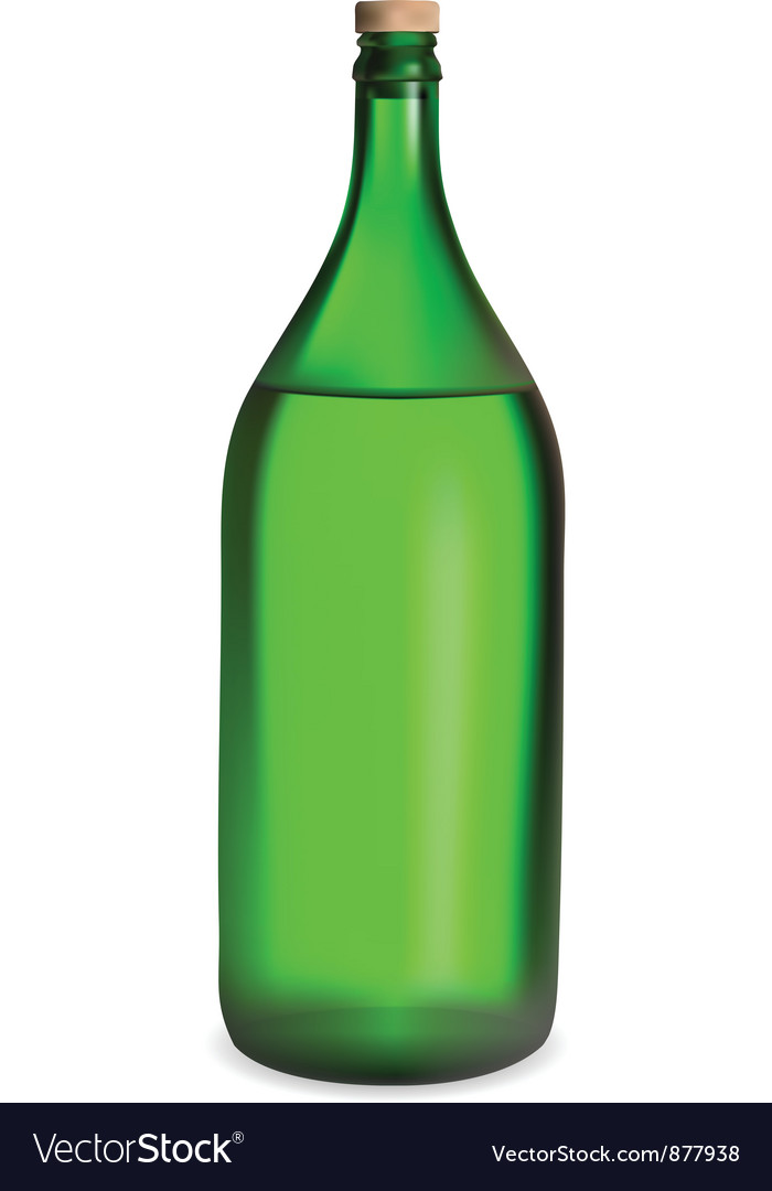 Green bottle vector | Price: 1 Credit (USD $1)