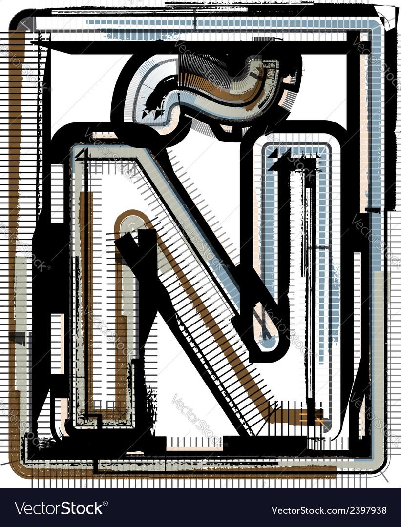 Grunge font letter vector | Price: 1 Credit (USD $1)