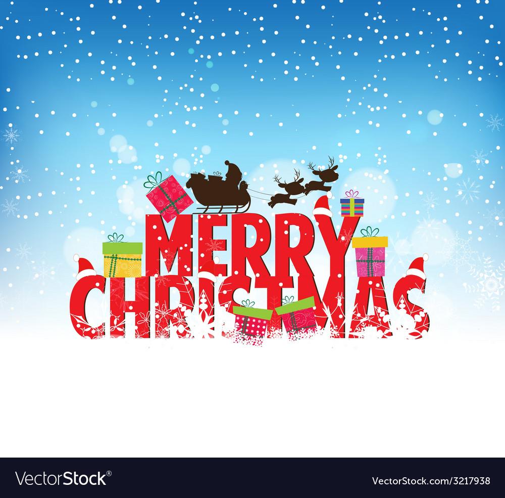 Happy christmas vector | Price: 1 Credit (USD $1)