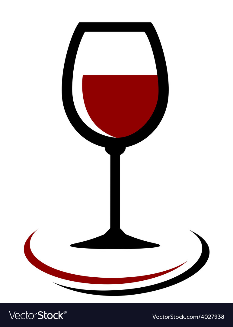 Red wine glass icon vector | Price: 1 Credit (USD $1)