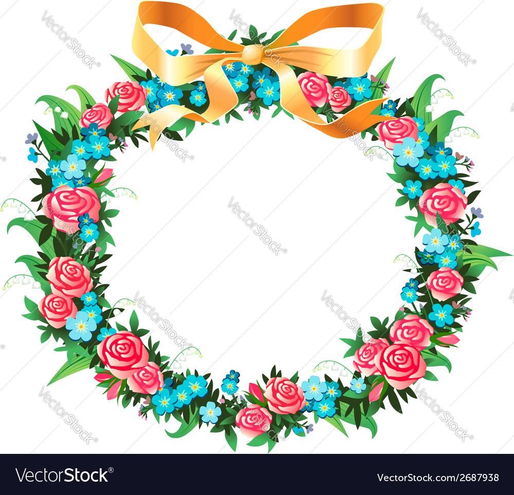 Retro wreath vector | Price: 1 Credit (USD $1)