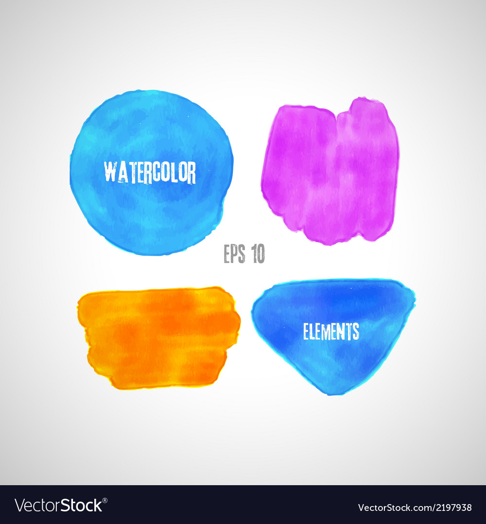 Set of watercolor elements vector | Price: 1 Credit (USD $1)