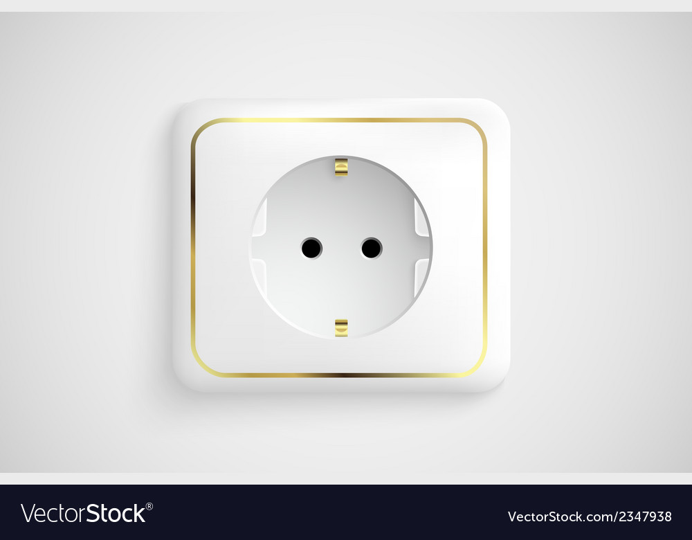 White socket with ground vector | Price: 1 Credit (USD $1)