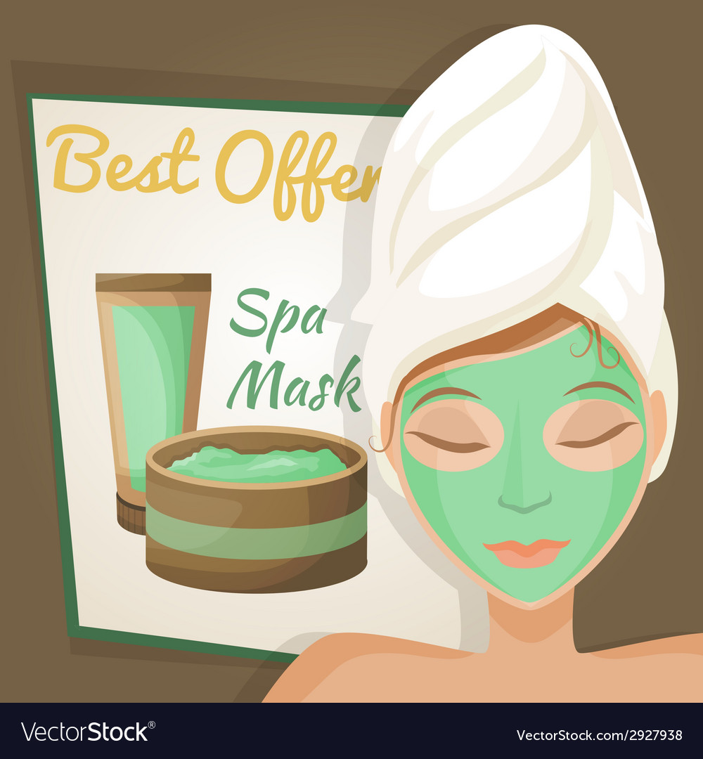 Woman in spa mask vector | Price: 1 Credit (USD $1)