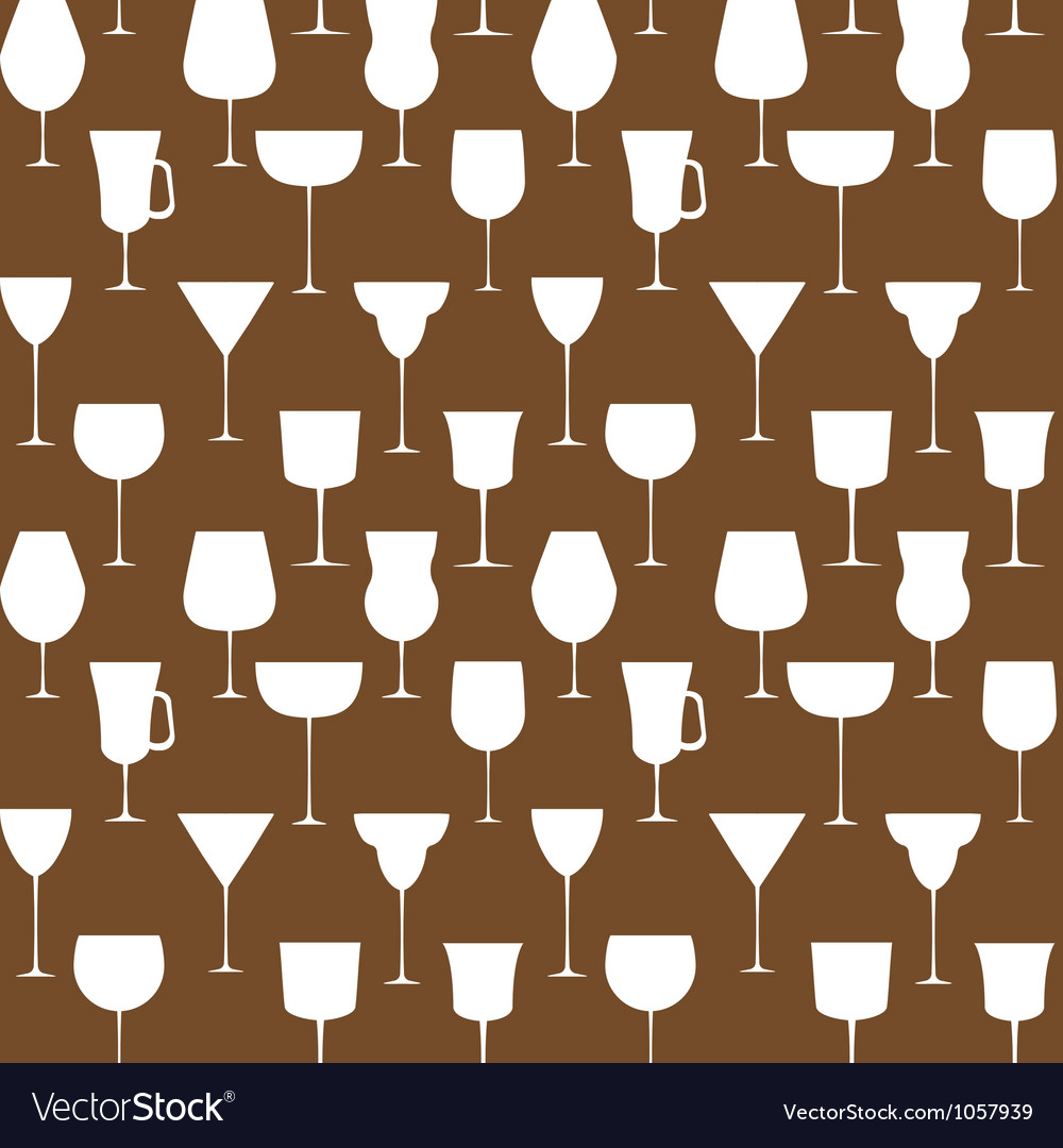 Alcoholic glass seamless pattern  eps 10 vector | Price: 1 Credit (USD $1)
