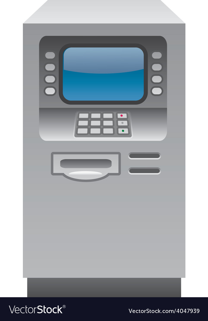 Atm cash machine vector | Price: 1 Credit (USD $1)