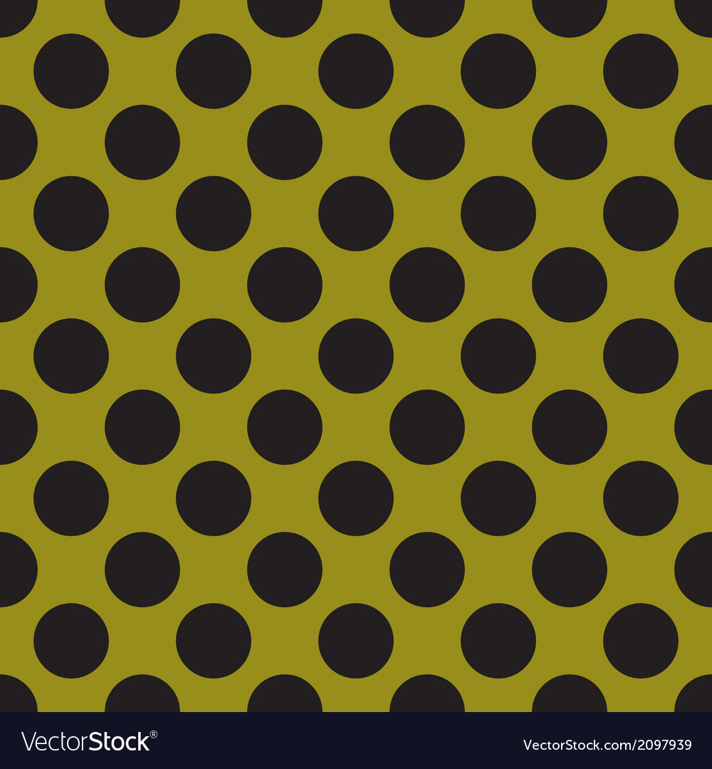 Black tile polka dots on green background vector | Price: 1 Credit (USD $1)