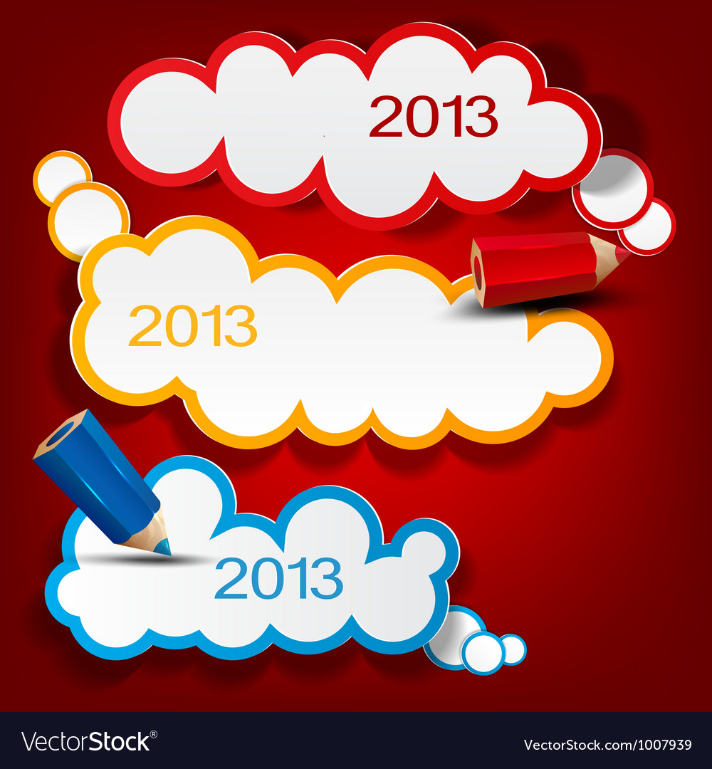 Colorful bubbles for speech 2013 new year vector | Price: 1 Credit (USD $1)