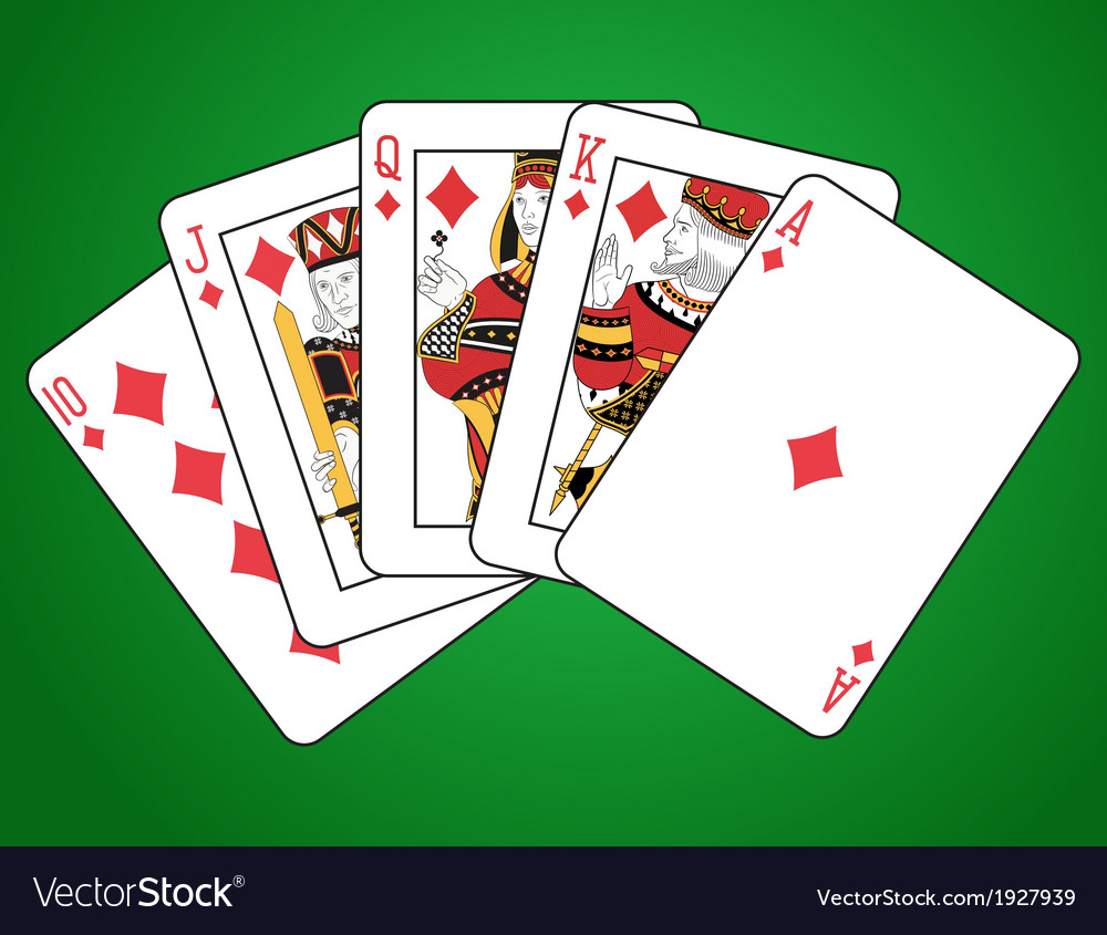 Diamonds royal flush vector | Price: 1 Credit (USD $1)