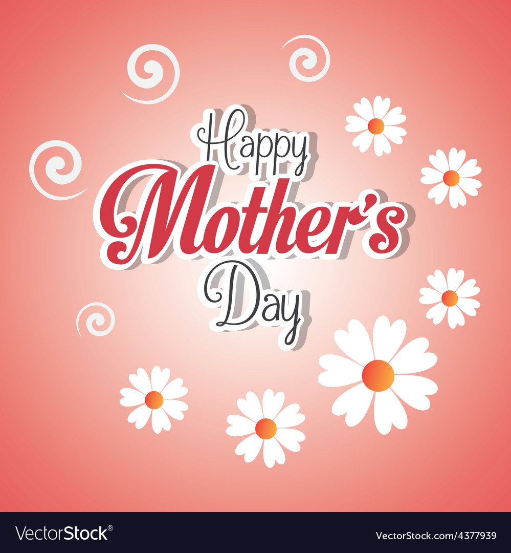 Happy mothers day card design vector   Price: 1 Credit (USD $1)