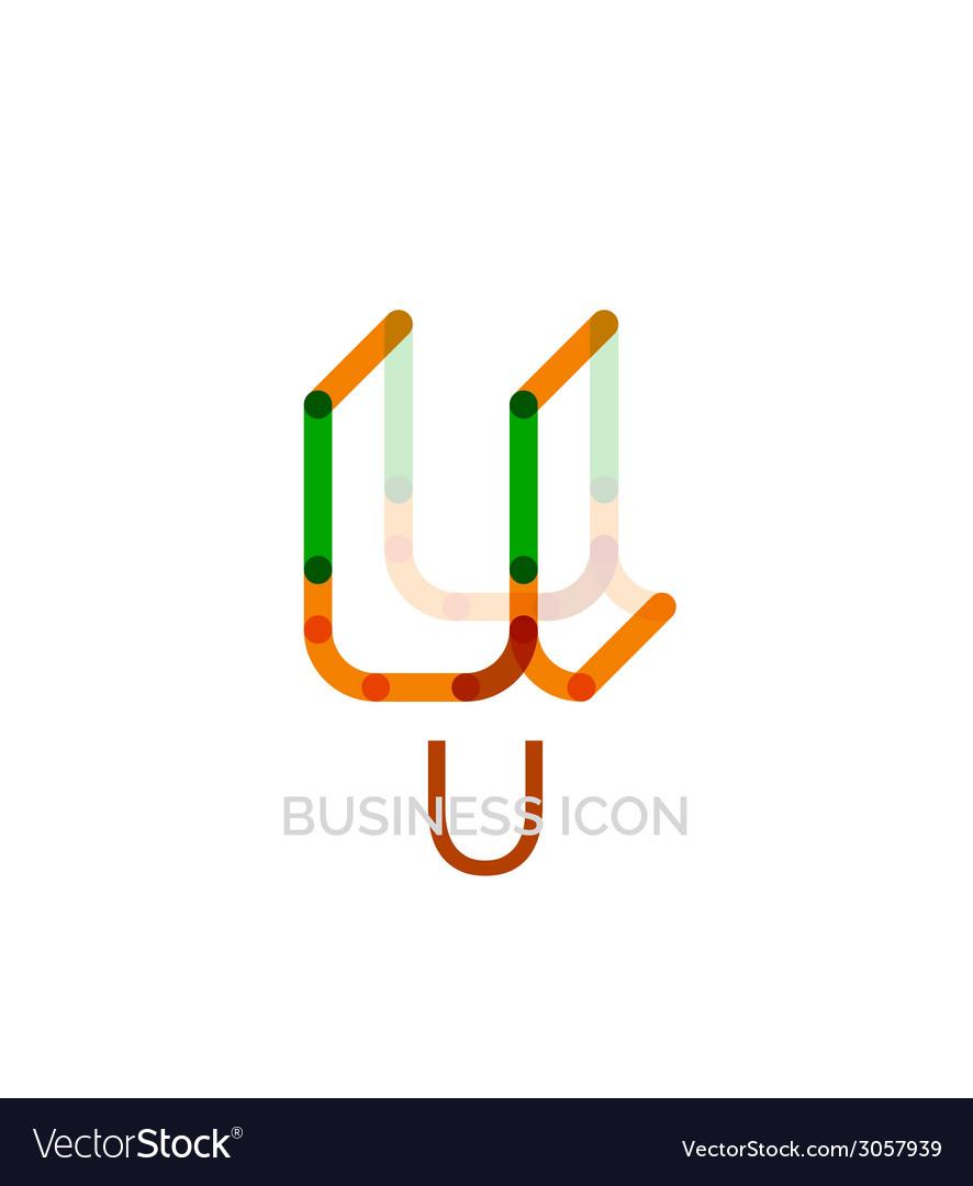 Minimal u font or letter logo design vector   Price: 1 Credit (USD $1)