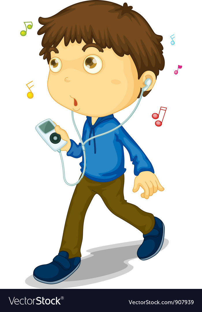 Music boy vector | Price: 3 Credit (USD $3)