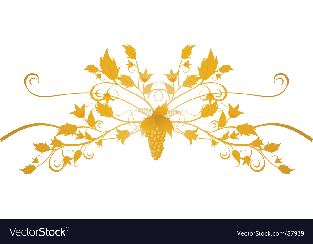 Ornate grape flourish vector | Price: 1 Credit (USD $1)