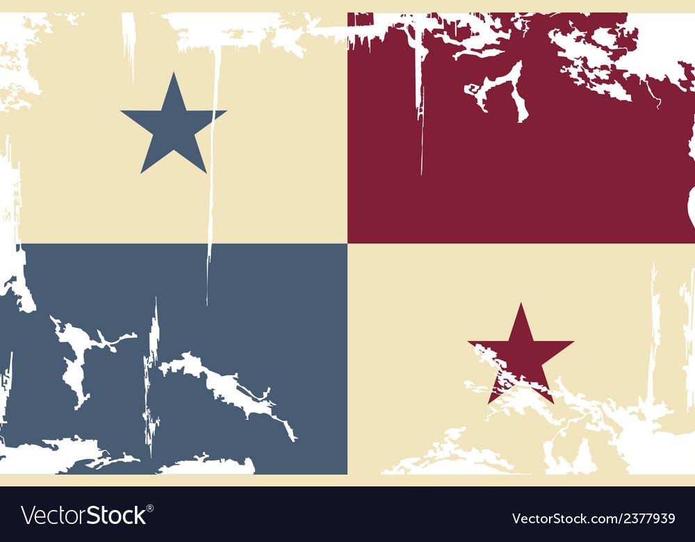 Panama grunge flag vector | Price: 1 Credit (USD $1)