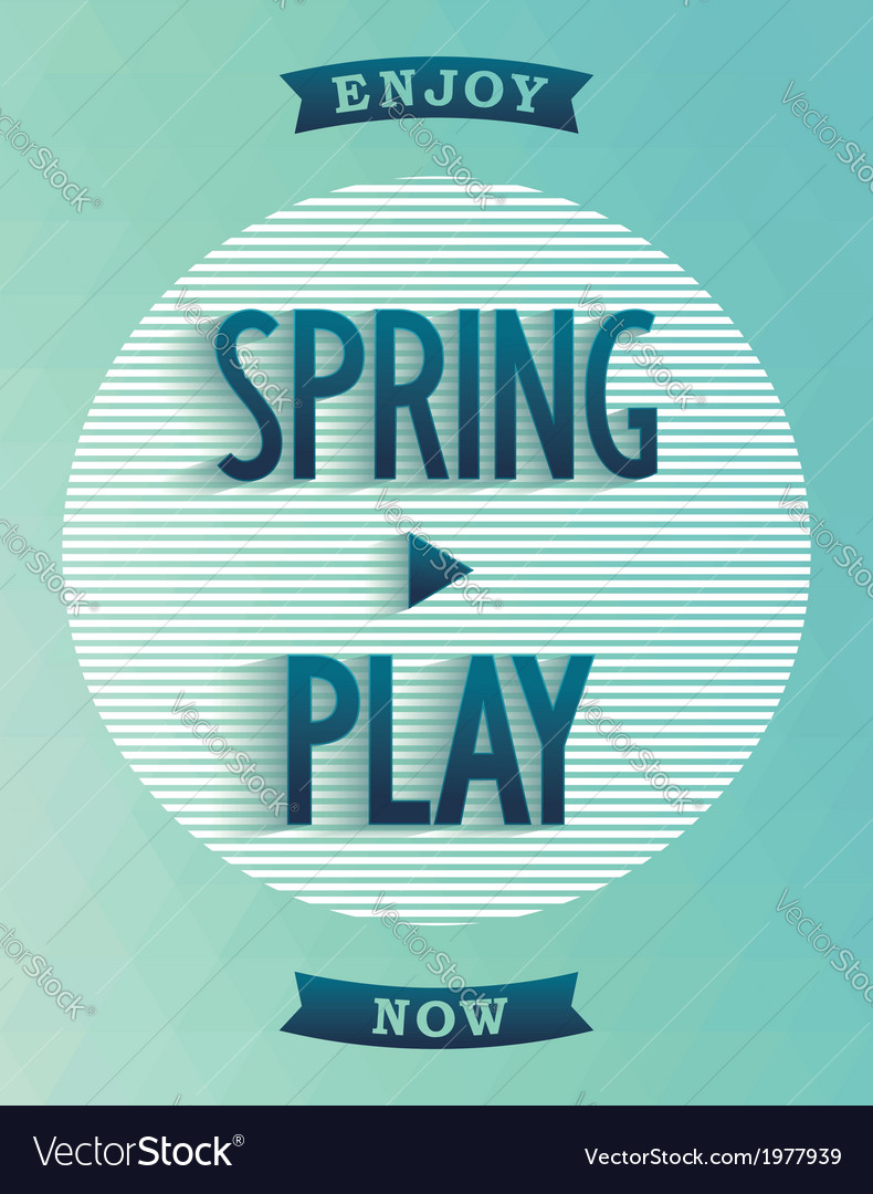 Poster design - spring started vector | Price: 1 Credit (USD $1)