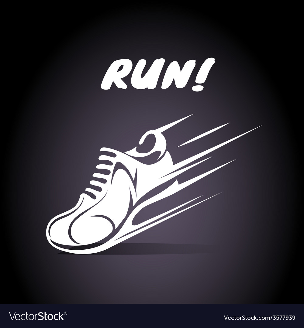 Run poster design vector | Price: 1 Credit (USD $1)