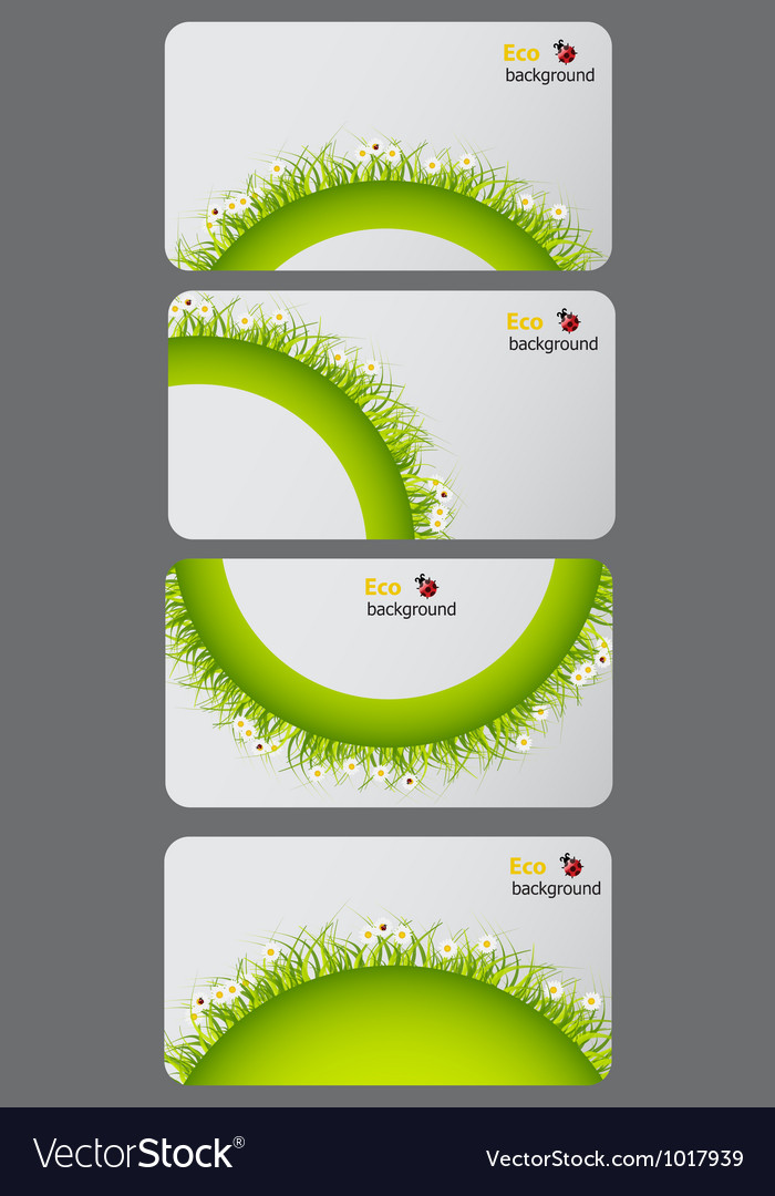 Set of nature gift cards vector | Price: 1 Credit (USD $1)
